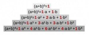 propiedades o caracteristicas del triangulo de pascal