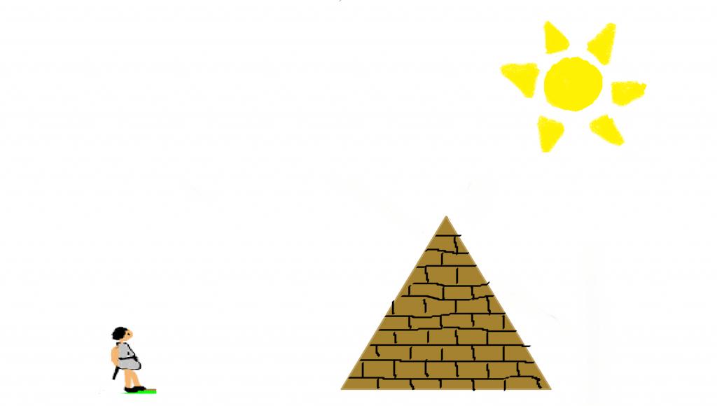 Como calculo Tales la altura de la pirámide
