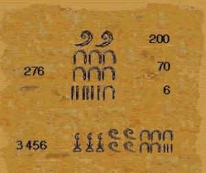 ejemplo de números árabes