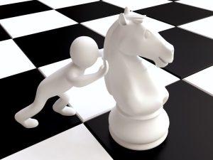Un caballo de ajedrez