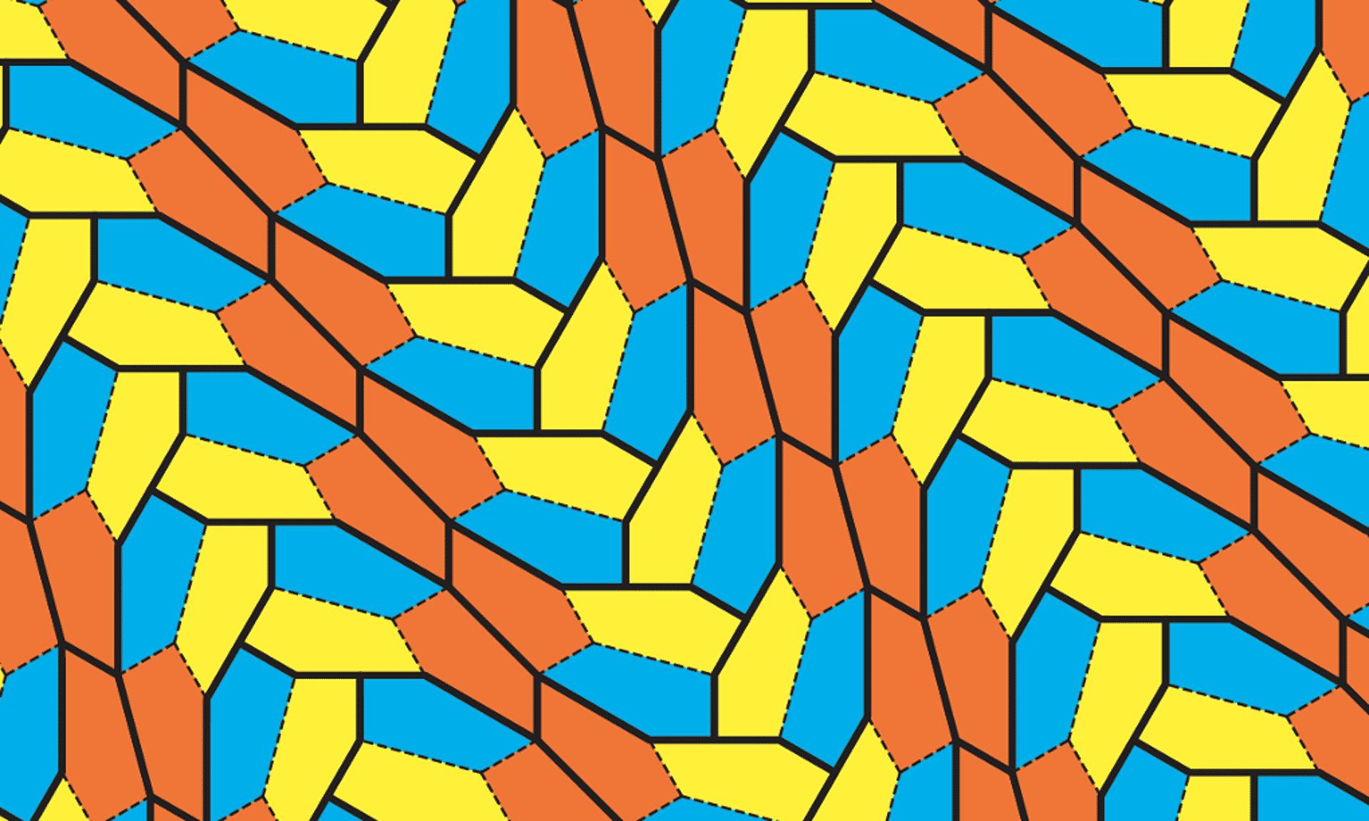 cómo cubrir el plano con un mismo polígono sin dejar huecos