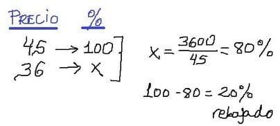como se calcula el porcentaje