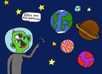 extraterretre con sus dominios