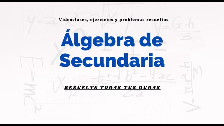 curso algebra de secundaria