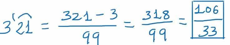 como pasar de decimal a fraccion