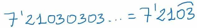 decimal periódico mixto