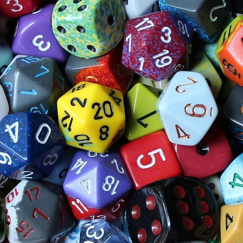 dados para jugar en matemáticas
