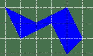 Cómo calcular el área en una cuadrícula