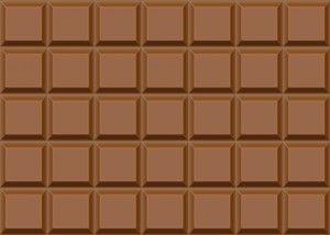 fracciones de una tableta de chocolate